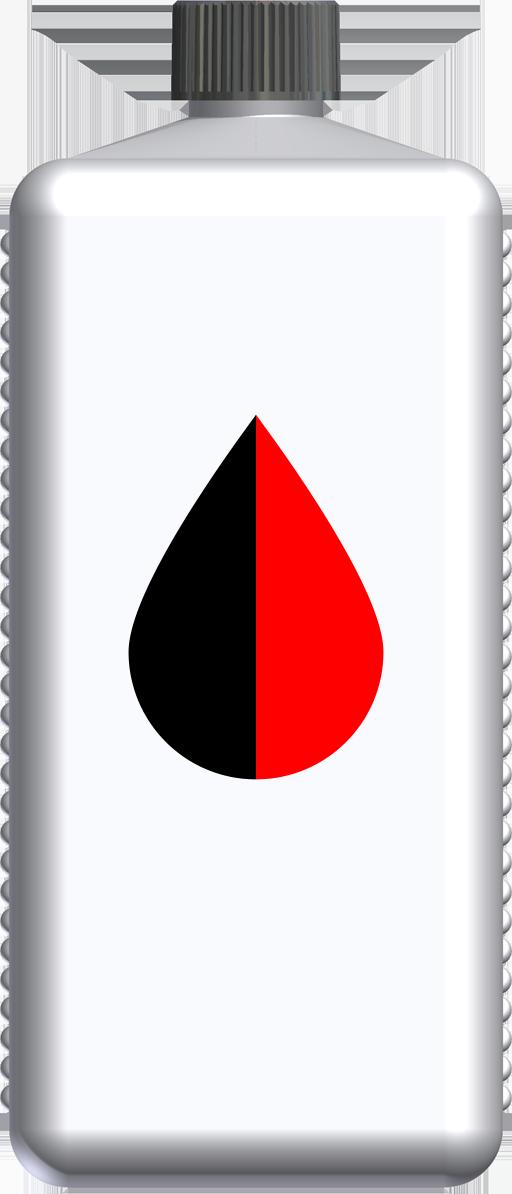 T230044 - butelka 1l czerwona czarna