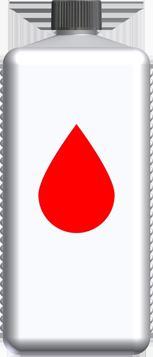 T220041 - butelka 1l czerwona