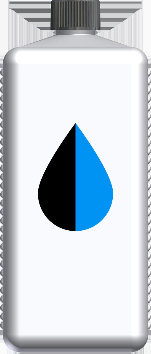 T232042 - butelka 1l niebieska czarna