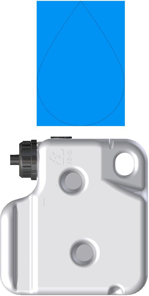 XI33073-200 - butelka cij niebieska