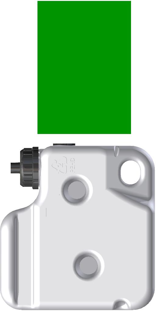 XI33072-200 - butelka cij zielony
