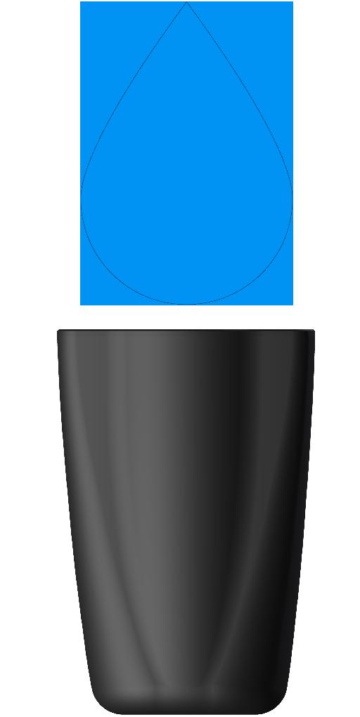 XI40038-000 - butelka handjet 260 niebieski