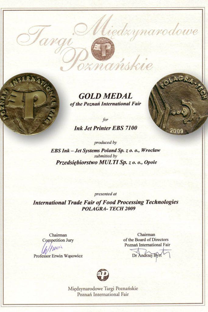 Profil firmy - certyfikaty ebs 0002 EBS 7100 Dyplom zmedalami MTP1230x1748150dpiENG