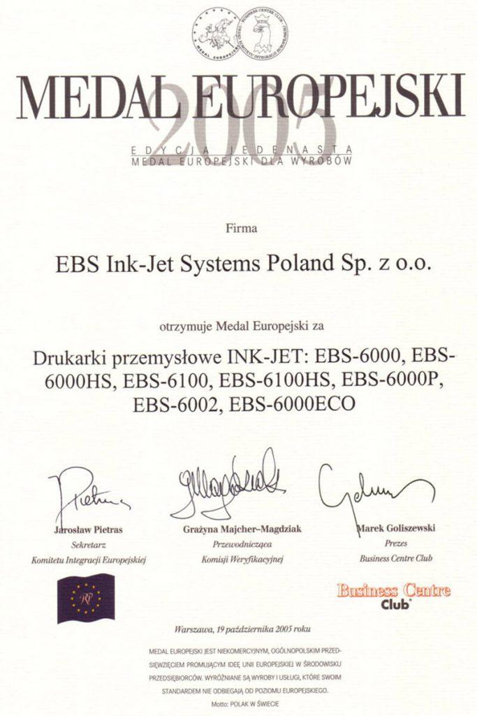Profil firmy - certyfikaty ebs 0007 Dyplom ME ED XI 2005 PL800x1130pix96dpi