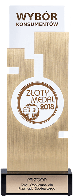 Profil firmy - statuetka pakfood medalkonsumentow
