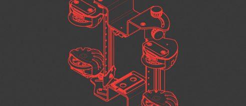 4-rolkowy stabilizator EBS-260 - P512151 - EBS 260 przemyslowa drukarka reczna akcesorium rolki dorur stabilizator