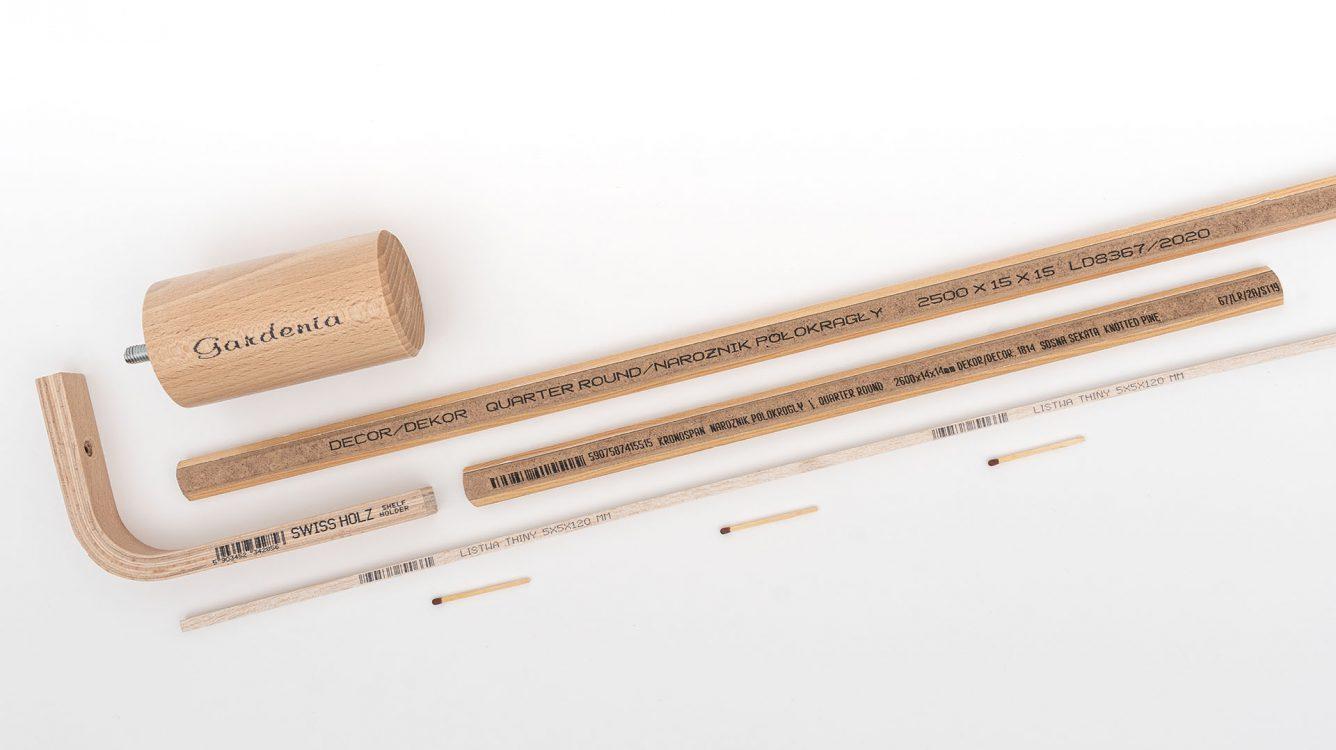 Znakowanie drewna i powierzchni drewnopodobnych. - znakowanie drewna Boltmark EBS 6900 male wydruki na drewnianych elementach dsc00086