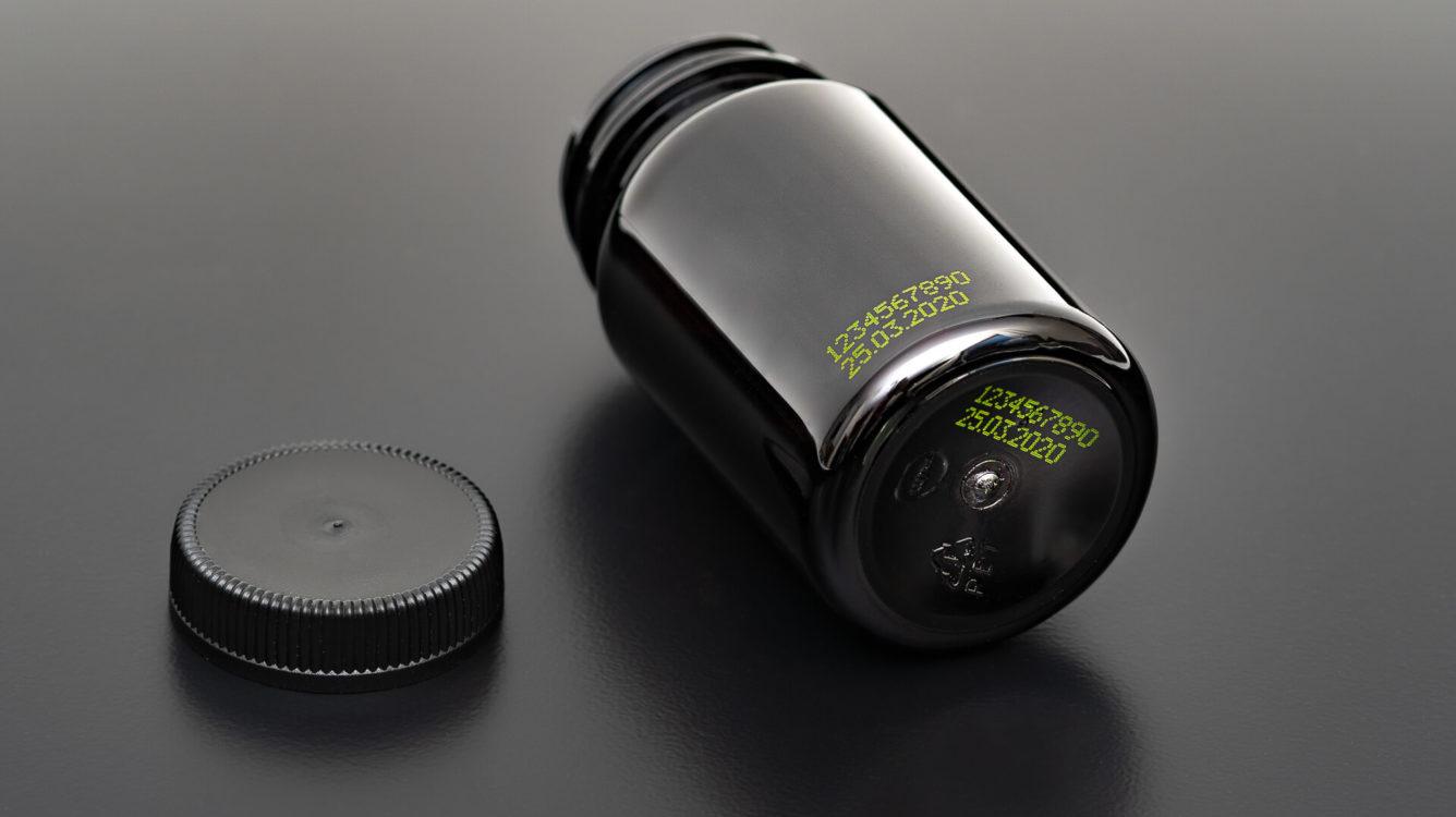 EBS-6800P - EBS 6800P wydruk zielonym atramentem pigmentowym namalej czarnej plastikowej butelce dsc00042 EBS-6800P