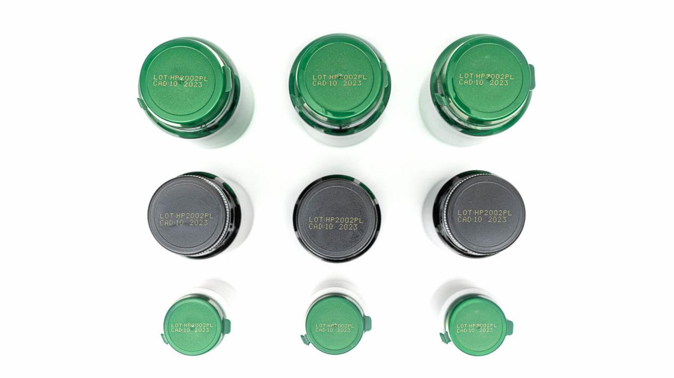 Opakowania jednostkowe - EBS 6800P wydruk zoltym atramentem pigmentowym na zakretkach plastikowych butelek dsc00006