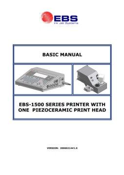Biblioteka - biblioteka Basic manual EBS 1500 with one piezoceramic print head 20060214v1 0EN miniature