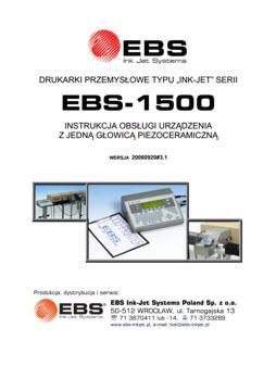 Biblioteka - biblioteka EBS 1500 PIEZO UM20060920v3 1PL miniatura
