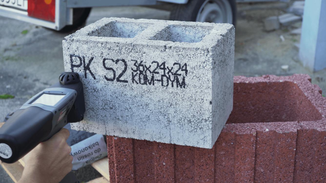 Znakowanie betonu i prefabrykatów betonowych - Handjet EBS 260 znakowanie prefabrykatow betonowych 10