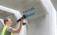 Znakowanie betonu i prefabrykatów betonowych - Handjet EBS 260 znakowanie prefabrykatow betonowych 2