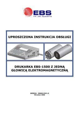 Biblioteka - biblioteka Uproszczona instrukcja EBS 1500 zglowica elektromagnetyczna 20060125v1 0PL miniature