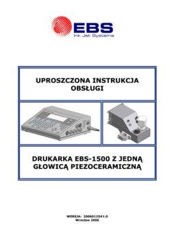 Biblioteka - biblioteka Uproszczona instrukcja EBS 1500 zglowica piezoceramiczna 20060125v1 0PL miniature