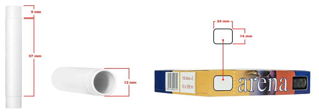 Prosta aplikacja zdala odlinii produkcyjnej - Fabryka Nici AMANDA - Prosta aplikacja miejsca znakowania wymiary